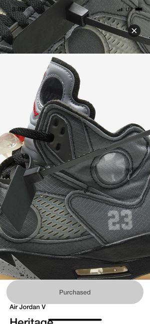 10.5 Off White Jordan 5 for Sale in Moreno Valley, CA
