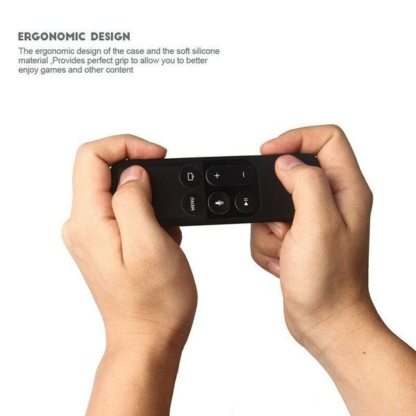 Silicone Protective Case Cover For Apple TV 4 Gen Siri Remote Control Shockproof (casecovertv-USA)