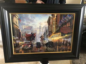 "Thomas Kinkade ""Justice League"" canvass for Sale in Gilroy, CA"