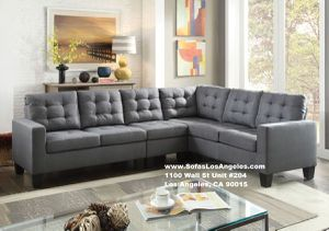 Real Showroom 😁 We Finance - Grey Earsom L Shape Couch Sofa Sectional for Sale in Los Angeles, CA