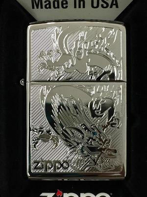 Zippo dragon design high polished chrome 38899 for Sale in Los Angeles, CA