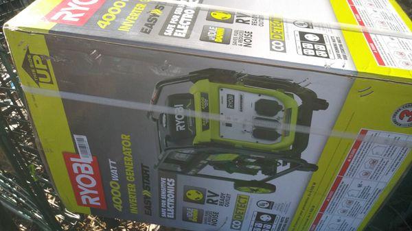 4000 Watt Brand New Ryobi Inveter Generator