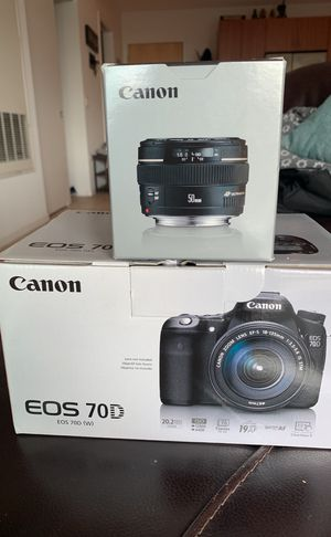 Brand new Canon EOS 70D with 50mm lens for Sale in Scottsdale, AZ