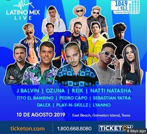 2 VIP tickets para el concierto Latino Mix Live for Sale in Orange, TX