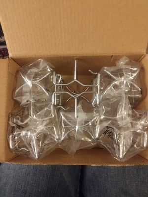 6 pack Chrome Plated Sprinkler Head Cage - Double Hook for Sale in Bothell, WA