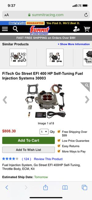 Fitech efi kit for Sale in The Colony, TX