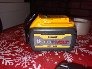 DeWalt 60 volt Max flexvolt battery. The battery is brand new guaranteed to last three to four times longer than any other battery for Sale in Buffalo, NY