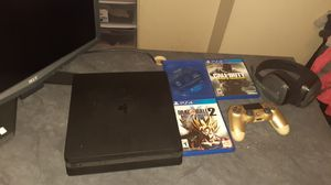 Ps4 slim with games and astro a10 headset for Sale in Whittier, CA