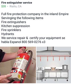 Fire extinguisher sales for Sale in Rialto, CA
