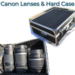 3 Canon Lenses & XIT Hard case for Sale in Westport, WA