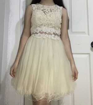 Gold lace detailed dress for Sale in Houston, TX