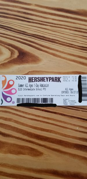 Hersheypark ticket for Sale in Myerstown, PA