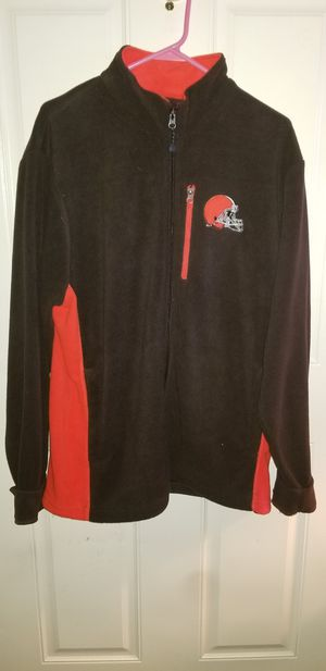 Cleveland Browns Size Large Zip up Fleece for Sale in Taylor, MI