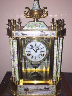 Beautiful Cloisonné Antique Vintage Mantle Clock for Sale in Mansfield,  TX