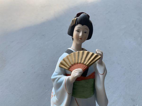 Japanese porcelain geisha doll