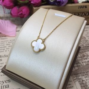 New Gold Delicate Mother Of Pearl Alhambra Clover Necklace WhiteQuatrefoil Charm for Sale in West Covina, CA