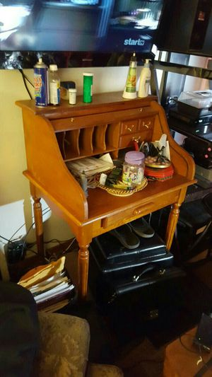 oak secretary desk for Sale in Tooele, UT