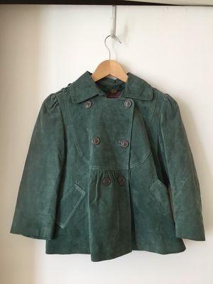 Rhapisodia teal no buck leather jacket for Sale in Miami, FL