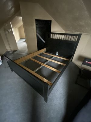 Black ikea queen bed frame for Sale in St. Louis, MO