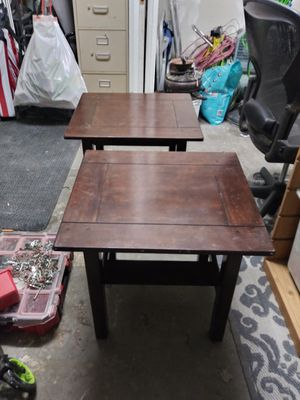 REAL WOOD SIDE TABLES AND COFFEE TABLE for Sale in Hawthorne, CA
