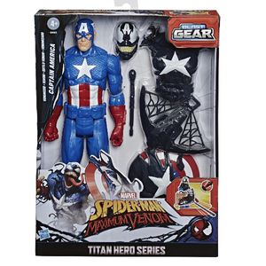 Spider-Man Maximum Venom Titan Hero Venomized Captain America for Sale in Addison, IL