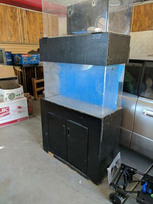 Salt water aquarium with built-in​ back filter for Sale in Chula Vista, CA