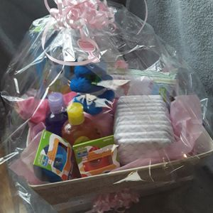 Elmo sesame street cookie monster baby girl gift basket pampers for Sale in Plant City, FL