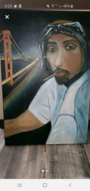 Tupac 2pac canvas art painting for Sale in San Leandro, CA