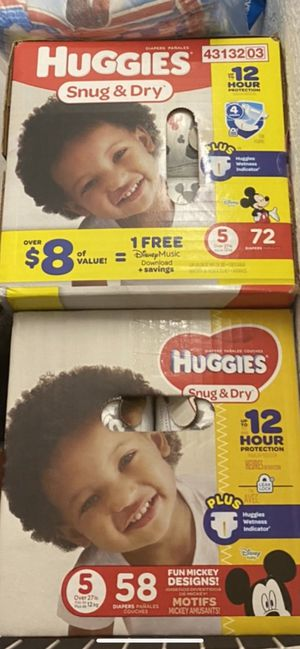 TWO Size 5 Diapers box's for Sale in Miami, FL