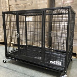 ⭕️BRAND NEW heavy duty dog kennel cage crate with wheels and plastic tray sealed box🐕 see dimensions in second picture🇺🇸 for Sale in Norwalk, CT
