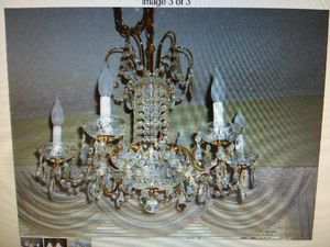 Schonbeck crystal chandelier/ shades for Sale in Seattle, WA