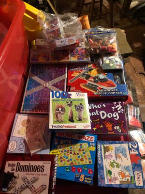 Games, books, dominoes, puzzle, wordmaze, lego, mine puzzle for Sale in Easton, MA