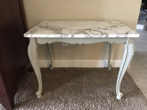 Antique French Provincial Marble-topped Side Table for Sale in Phoenix, AZ