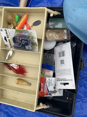 Fishing tackle box & assorted accessories for Sale in Redding, CA