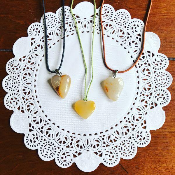 Carnelian Agate Heart Necklaces