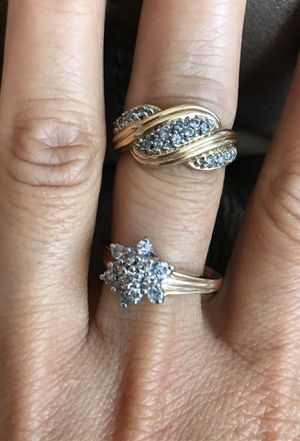 2 14KP Yellow Gold Rings with Diamonds for Sale in Joliet, IL