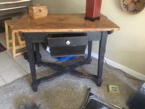 Antique farm table. Large front flour drawer. for Sale in Portland, OR