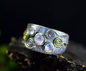 Natural Moonstone 925 Sterling Silver Ring for Sale in Wichita, KS