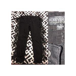 Black fringe jeans for Sale in Philadelphia, PA