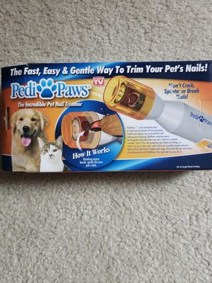 Pedi paws pet nail trimmer for cat & dogs for Sale in Arlington, VA