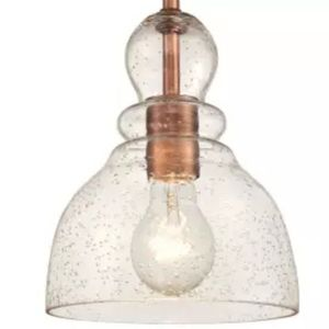 "Single Light 7"" Wide Mini Pendant with Hand Blown Shade for Sale in Ontario, CA"