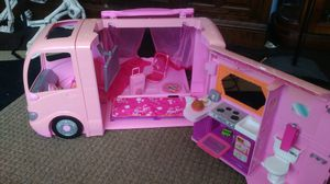Vintage Barbie RV w/ kitchen bathroom and pop out tent for Sale in Aurora, CO