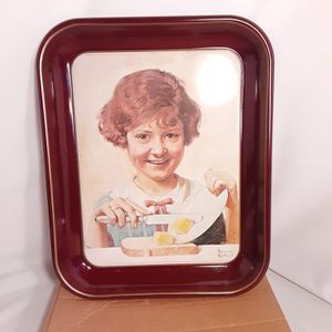 Vi Tage Like New Norman Rockwell Serving Trays for Sale in Chino, CA