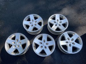 (5) 2007 TO 2018 JEEP WRANGLER OEM FACTORY 17' X 7.5' WHEELS RIMS SILVER for Sale in Nashville, TN
