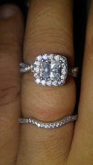 Princess cut wedding set for Sale in Columbia, MO