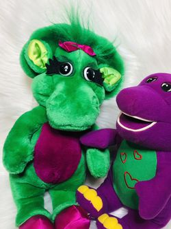 Barney the Dinsaur Barney Baby Bop Vintage Plush Toys for Sale in Largo,  FL