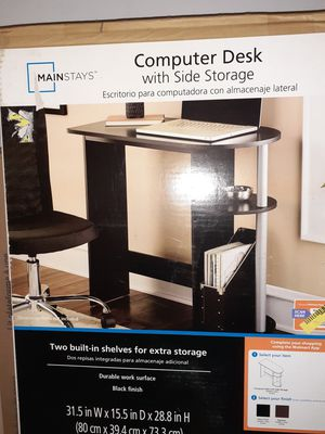 Computer desk with side storage never opened for Sale in Palm Springs, FL