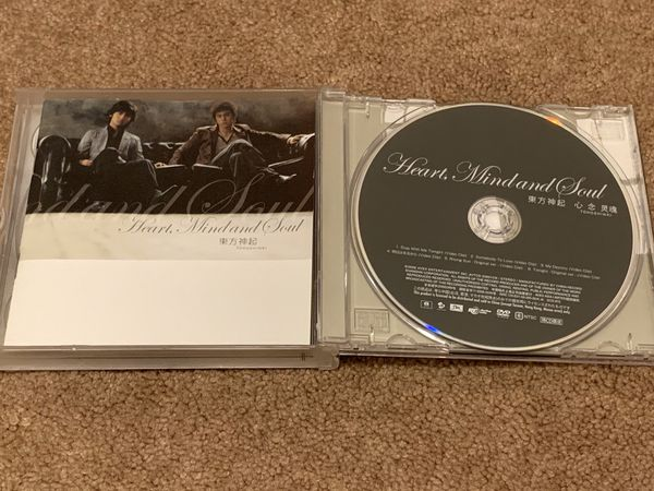 Kpop album - DBSK/TVXQ heart mind and soul & five in the black
