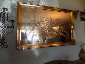 Extra Large Mirror Etched Glass Gold Frame for Sale in Salt Lake City, UT