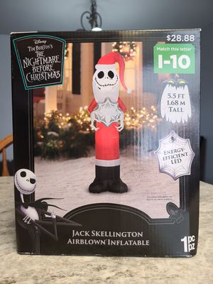 Nightmare Before Christmas Jack Skellington Christmas Airblown Inflatable New Sold out in store. I have 2 left. for Sale in Anaheim, CA